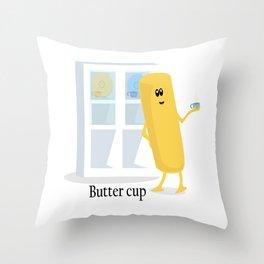 Butter Cup Throw Pillow