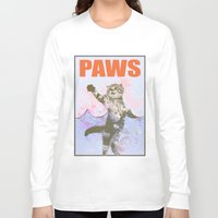 jaws Long Sleeve T-shirts featuring paws / Jaws by tshirtsz