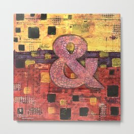 Journey by Number: Ampersand Metal Print