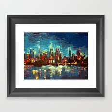 Abstract NYC Skyline Framed Art Print