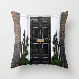 Westminster door 2 Throw Pillow