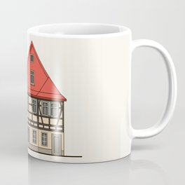 Half-timbered house with red roof Coffee Mug