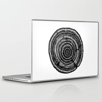 tree rings Laptop & iPad Skins featuring Tree Rings by Irene Leon