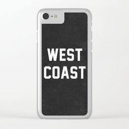 West Coast - black version Clear iPhone Case