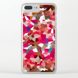 Ruby Red Heart Moon Love Clear iPhone Case