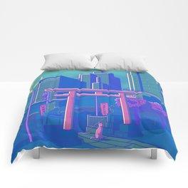 Neon Moon Comforters