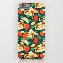 Healthy Pancake Breakfast Pattern iPhone Case