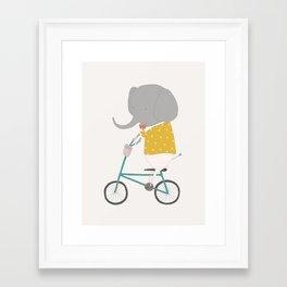Emerson Rides Framed Art Print