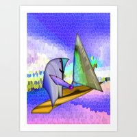 sailing Art Prints featuring Sailing by Digital-Art
