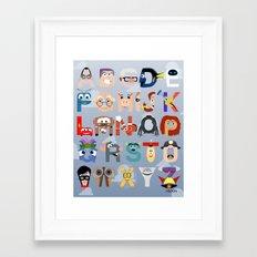 P is for Pixar (Pixar Alphabet) Framed Art Print