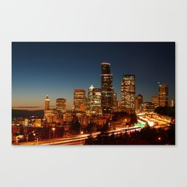 Seattle at Sunset Canvas Print