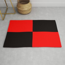 rot schwarz Rug