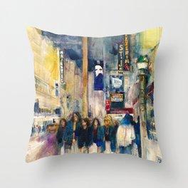 Phantom of the Opera New York Theatre District _ (2014) Watercolor  Throw Pillow