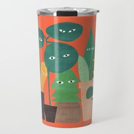 The plants are watching (paranoidos maximucho) Travel Mug