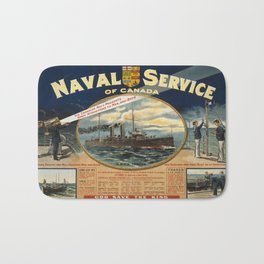 Vintage poster - Naval Service of Canada Bath Mat