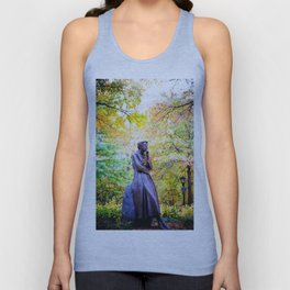 Eleanor Roosevelt Statue in Riverside Park Unisex Tank Top