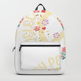Fueled with peace and love | Hippies Gifts Backpack
