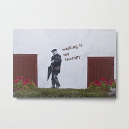 A Gentleman goes walking; Camino to Santiago de Compostela Metal Print