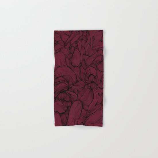 Rose Petal Red Hand & Bath Towel