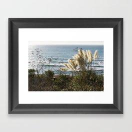 Beachy Ferns Framed Art Print