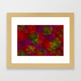 Abstract Floral Collage - Reds Framed Art Print