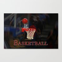 basketball Canvas Prints featuring Basketball by LoRo  Art & Pictures