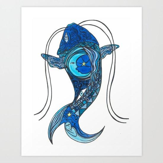 Tatoo Koi Fish Art Print