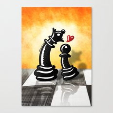 Bold Romantic Proposal for a Queen Canvas Print