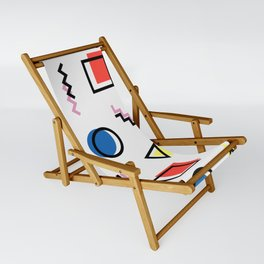 Color memphis pattern Sling Chair