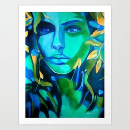 """Lady Blue"" Art Print"