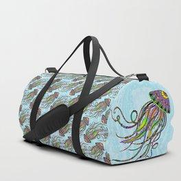 Electric Jellyfish Duffle Bag