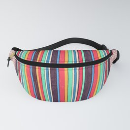 Stripes and pattern in primaries Fanny Pack