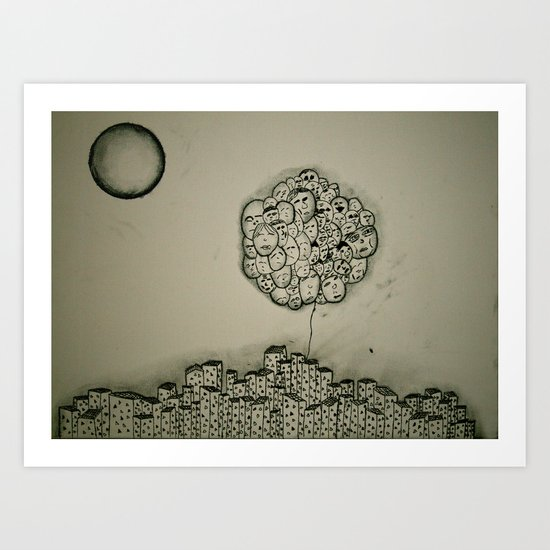 People Vs. Urban Living Art Print
