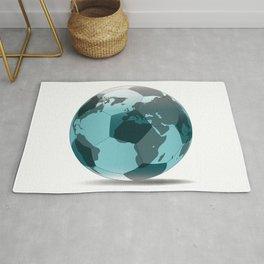Football World Globe Rug