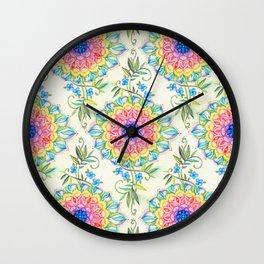 Midsummer Boho Mandala Wall Clock