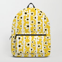Striped Daisies - yellow - more colors Backpack