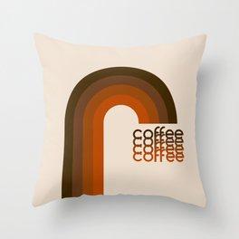 Cocoa Coffee Rainbow Throw Pillow