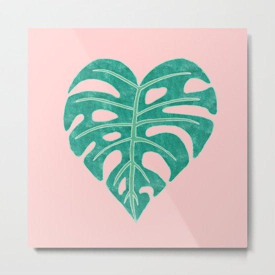 Leaf Heart Metal Print