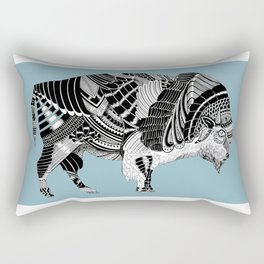 BLUE BISONTE-. Rectangular Pillow