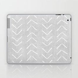 Mudcloth Big Arrows in Grey Laptop & iPad Skin