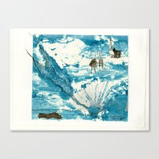 mermaid of Zennor collagraph 1 Canvas Print
