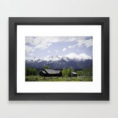 Church at the base of the Tetons Framed Art Print