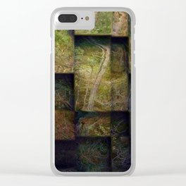 Forest on boxes Clear iPhone Case