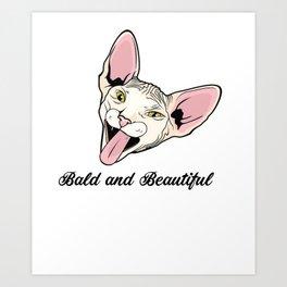 Sphynx Cat Tee Shirt - T Shirt Gift For Cat Lovers Art Print