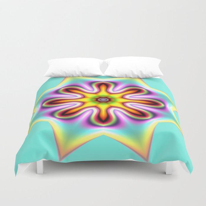 Decorative colourful silky star Duvet Cover