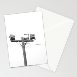 Travel photography street lamp at night black & white Stationery Cards