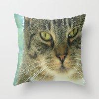 simba Throw Pillows featuring Simba by Nonna Originals