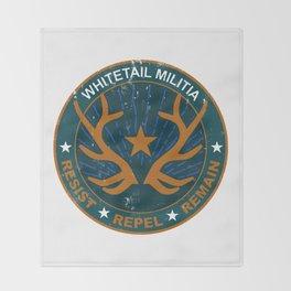 Whitetail Militia Throw Blanket
