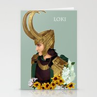 loki Stationery Cards featuring Loki by tsunami-sand