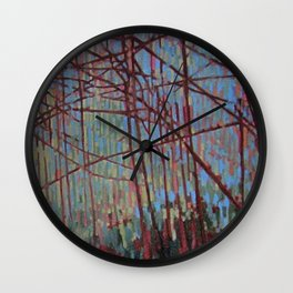 Soft Blue Forest Wall Clock